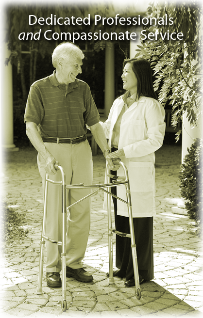 Home Health Therapist with Patient in Highland, IN
